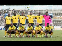 Jamaica's starting 11 who faced Aruba in the Concacaf Nations League on October 13, 2019.